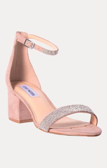 STEVE MADDEN   Rhinestone and Pink Block Heels