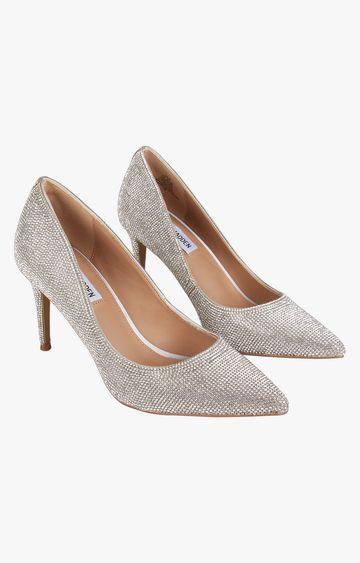 STEVE MADDEN | Silver Heels Pumps