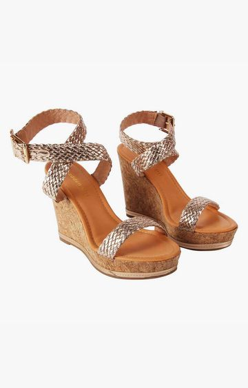 STEVE MADDEN | Rose Gold Wedges