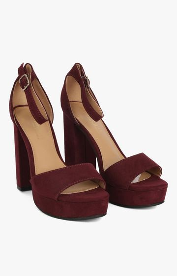 STEVE MADDEN | Wine Block Heels