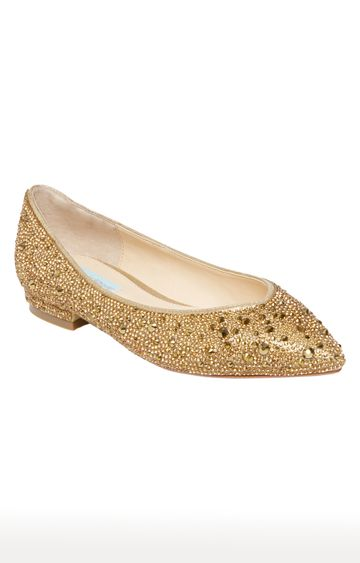 STEVE MADDEN | Gold Pointed Toe Shoes