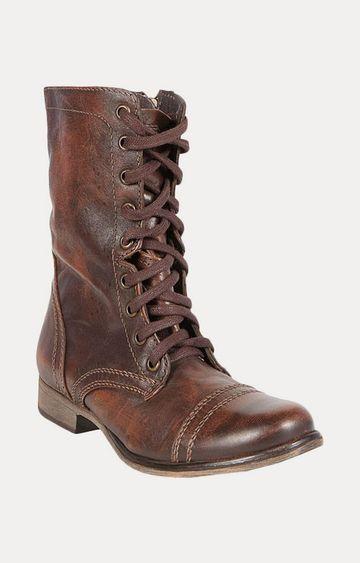 STEVE MADDEN | Brown Calf Length Boots
