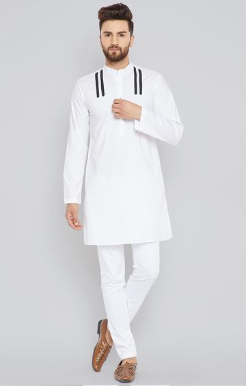 SEE DESIGNS | White Solid Kurta