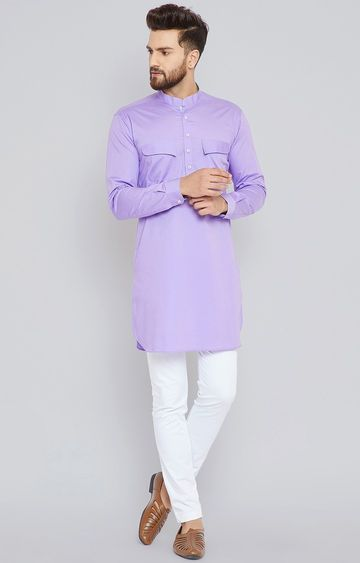 SEE DESIGNS | Mauve Solid Kurta Set