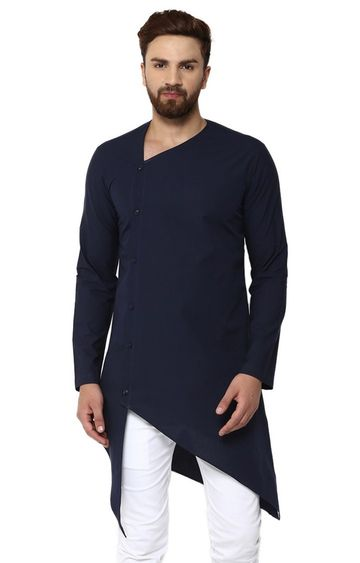 SEE DESIGNS | Navy Solid Kurta