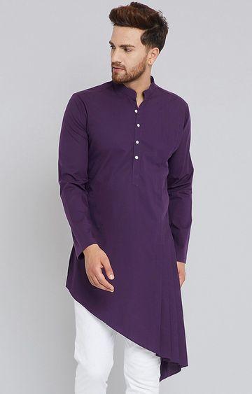 SEE DESIGNS | Purple Solid Kurta