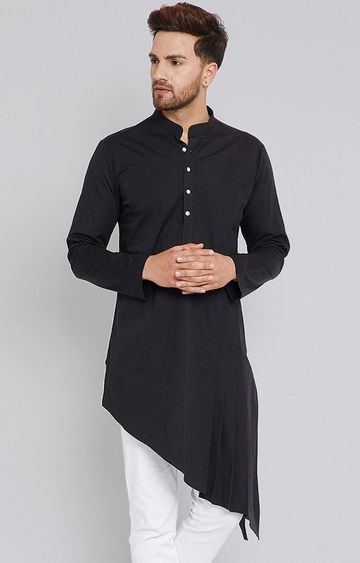 SEE DESIGNS | Black Solid Kurta