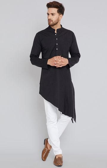 SEE DESIGNS | Black Solid Kurta Set
