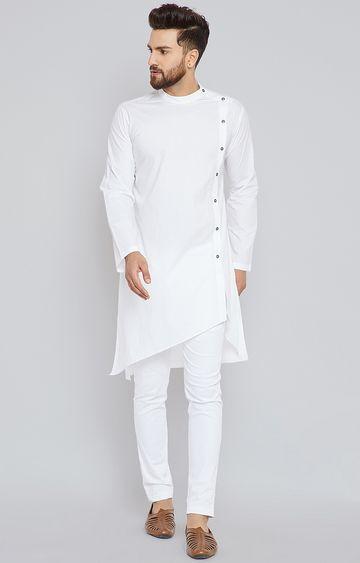 SEE DESIGNS | White Solid Kurta Set