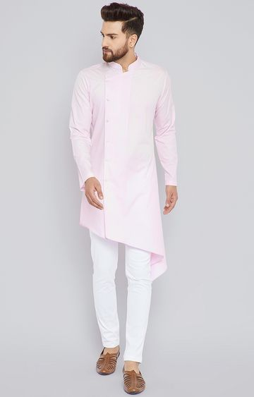 SEE DESIGNS | Pink Solid Kurta Set