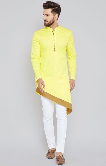 SEE DESIGNS | Yellow Solid Kurta Set