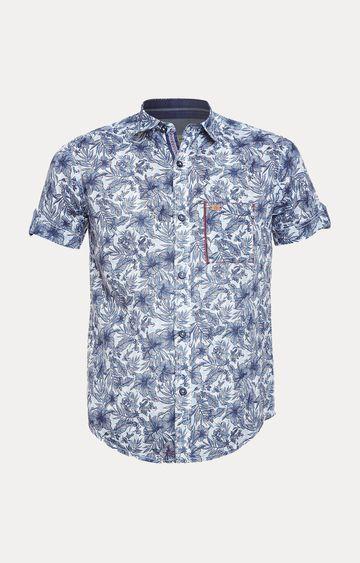 Crimsoune Club | Blue Floral Shirt