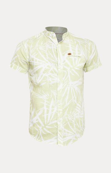 Crimsoune Club | Green Floral Shirt