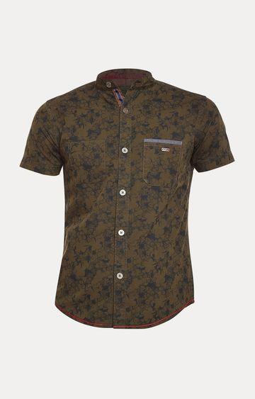 Crimsoune Club | Olive Floral Shirt