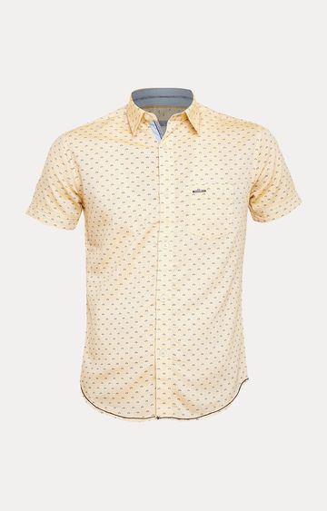 Crimsoune Club | Yellow Printed Shirt