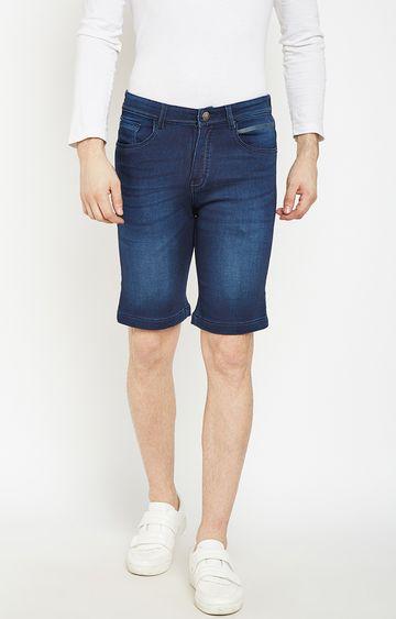 Crimsoune Club | Navy Blue Solid Shorts