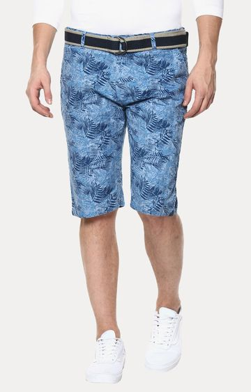 Crimsoune Club | Blue Printed Shorts