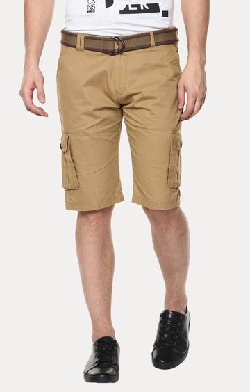 Crimsoune Club | Khaki Solid Shorts