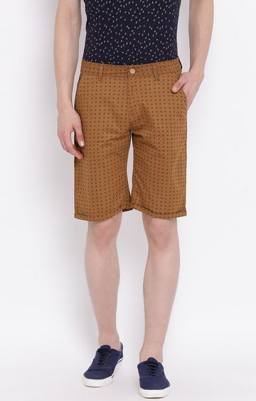 Crimsoune Club | Brown Printed Shorts