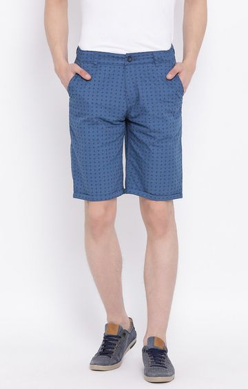 Crimsoune Club | Blue Printed Shorts