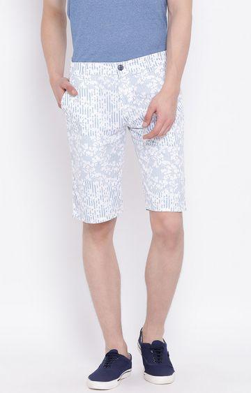 Crimsoune Club | White Printed Shorts