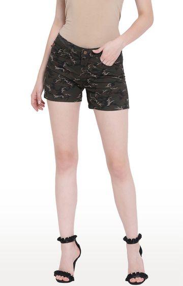 Crimsoune Club | Olive Camouflage Shorts