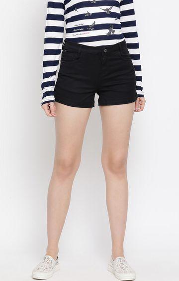 Crimsoune Club | Black Solid Shorts