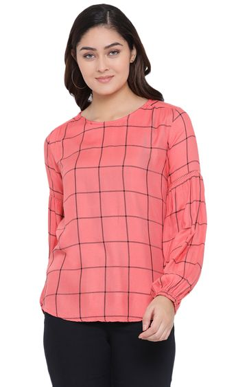 Crimsoune Club | Pink Checked Top