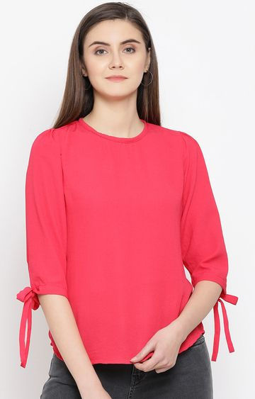Crimsoune Club | Pink Solid Top
