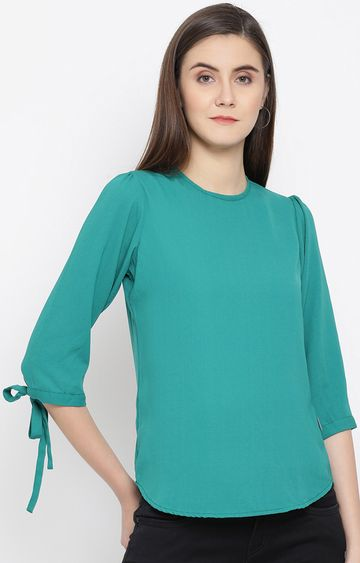 Crimsoune Club | Green Solid Top
