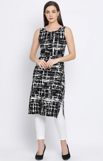 Crimsoune Club | Black Printed Tunic