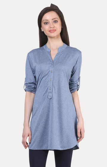 Crimsoune Club | Blue Melange Tunic