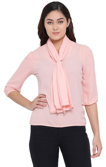 Crimsoune Club | Light Pink Solid Top