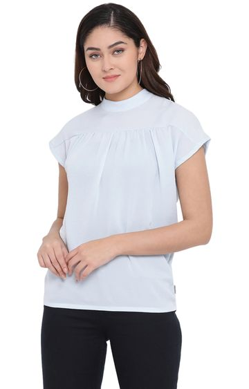 Crimsoune Club | Light Blue Solid Top