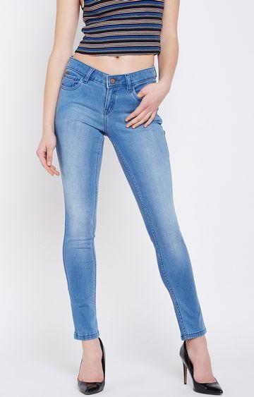 Crimsoune Club   Blue Solid Straight Jeans