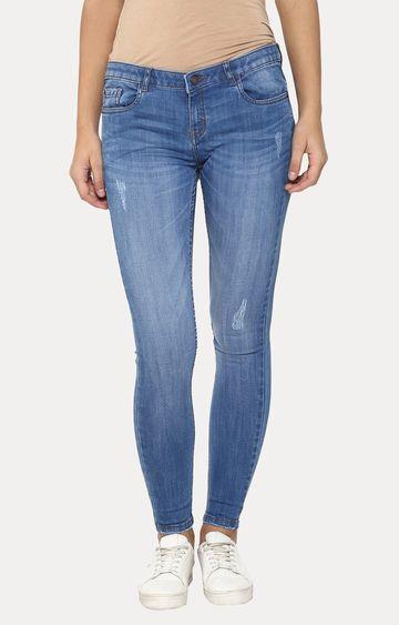 Crimsoune Club | Blue Straight Jeans