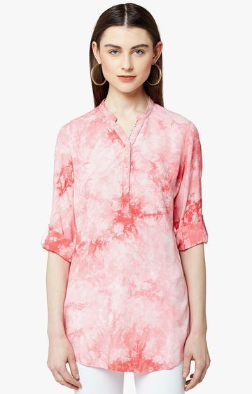 Crimsoune Club | Coral Printed Tunic
