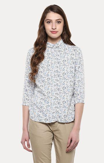 Crimsoune Club | Multicoloured Floral Casual Shirt