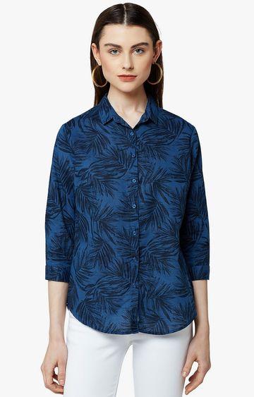 Crimsoune Club   Blue Printed Casual Shirt