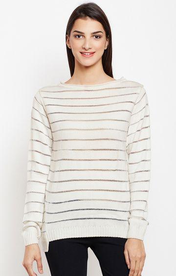 Crimsoune Club | Cream Solid Sweater