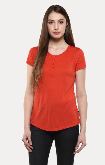 Crimsoune Club | Red Solid T-Shirt