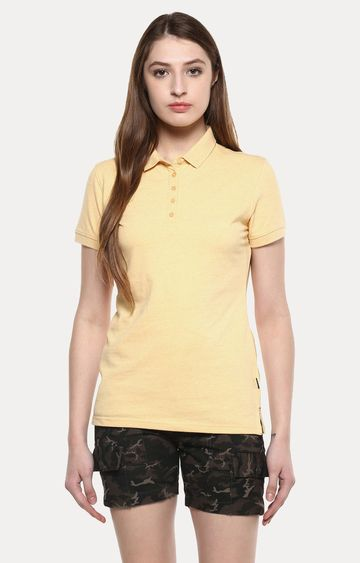 Crimsoune Club | Yellow Melange T-Shirt