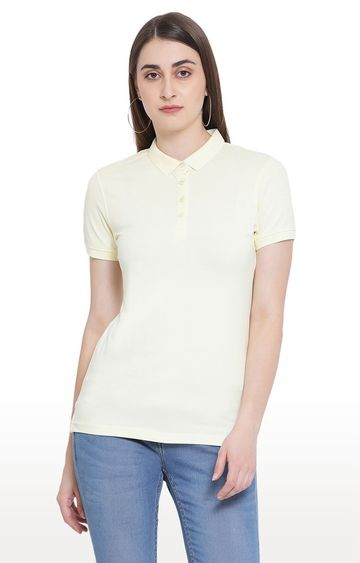 Crimsoune Club | Yellow Solid T-Shirt