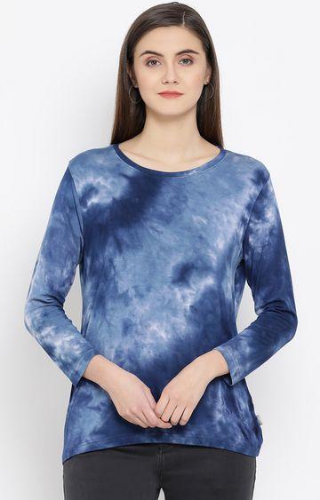 Crimsoune Club | Blue Colourblock T-Shirt