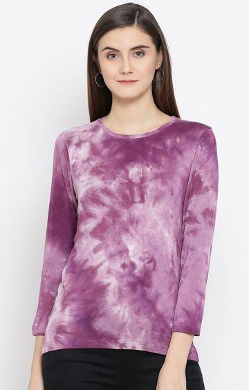 Crimsoune Club | Purple Colourblock T-Shirt