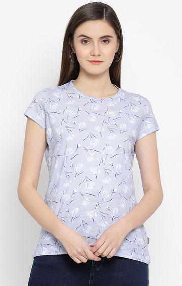 Crimsoune Club   Blue Printed T-Shirt