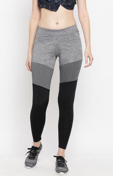Crimsoune Club | Grey Colourblock Trackpants