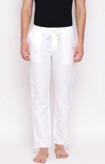 Crimsoune Club | White Solid Trackpants