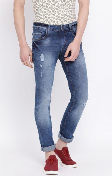 Crimsoune Club | Blue Ripped Jeans
