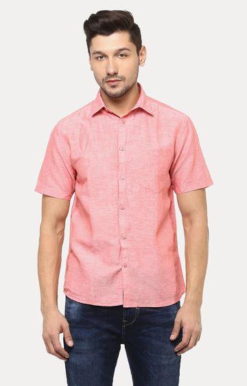 Crimsoune Club   Coral Melange Casual Shirt